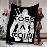 Custom Blanket Toss A Coin To Your Blanket - Fleece Blanket