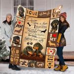 Custom Blanket Dachshund Puppies Dog Blanket - Dog Gifts - Fleece Blanket