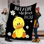Custom Blanket Ducks Blanket - Perfect Gifts For Girls - Fleece Blanket