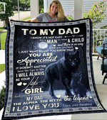Custom Blanket Wolf To My Dad Blanket - Gift For Dad - Fleece Blanket