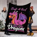 Custom Blanket  Dragons Blanket - Perfect Gift For Girl - Fleece Blanket