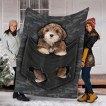 Custom Blanket Lhasa Apso Dog Pocket Blanket - Fleece Blanket