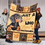 Custom Blanket Dachshund Dog Blanket - Gift For Her - Fleece Blanket