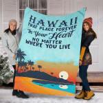 Custom Blanket Hawaii In Your Heart Blanket - Fleece Blanket