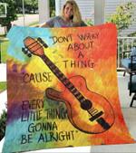 Custom Blankets -  Bob Marley Blanket - Fleece Blankets