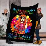 Custom Blanket Assuming I'm Just An Old Lady Peace Hippie Blanket - Fleece Blanket