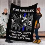 Custom Blanket Fur Missile K-9 Blanket - Perfect Gift For Dad - Fleece Blanket