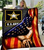 Custom Blanket ARMY FLAG Blanket - Perfect Gift For Dad - Fleece Blanket