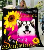 Custom Blanket Alaskan Malamute My Sunshine Blanket - Fleece Blanket