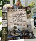 Custom Blanket To My Mom Wolf Blanket - Gift For Mom - Fleece Blanket