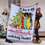 Custom Blanket This Is My Christmas Movies Watching Blanket 1 - Fleece Blanket