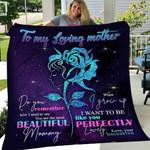 Custom Blanket To My Mom Hippie Blanket - Gift For Mom - Fleece Blanket