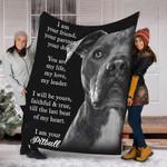 Custom Blanket I Am Your Pitbull Dog Blanket - Fleece Blanket