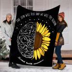 Custom Blanket The Sun Will Rise Mental Health Awareness Month Blanket - Fleece Blanket