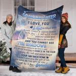 Custom Blanket To My Granddaughter Blanket - Fleece Blanket #81716