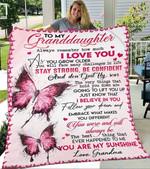 Custom Blanket To My Granddaughter Blanket - Gift For Granddaughter - Fleece Blanket