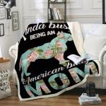 Custom Blanket Bully Mom Dog Blanket - Perfect Gift For Mom - Fleece Blanket