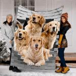 Custom Blanket Golden Retriever Dog Blanket - Fleece Blanket