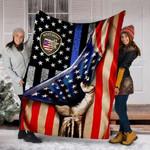 Custom Blanket Ohio County Sheriff Police Flag Blanket - Fleece Blanket