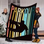 Custom Blanket Parkour Silhouette Blanket - Fleece Blanket