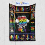 Custom Blanket Love Is Love Gay Pride LGBT Election 1 Blanket - Fleece Blanket