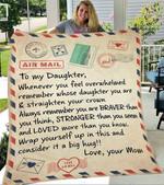 Custom Blanket Letter To My Daughter Blanket - Gift For Daughter #82908
