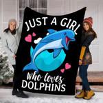 Custom Blanket Dolphin Blanket - Perfect Gifts For Girls - Fleece Blanket