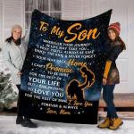 Custom Blanket To My Son Blanket - Perfect Gift For Son - Fleece Blanket #32888