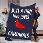 Custom Blanket Cardinals Blanket - Perfect Gift For Girl - Fleece Blanket