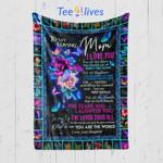 Custom Blanket To My Loving Mom Blanket - Gift For Mom - Fleece Blanket #43292