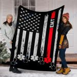 Custom Blanket EMT Blanket - Perfect Gift For Dad Mom - Fleece Blanket