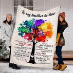 Custom Blanket To My Mother-In-Law-Blanket - Fleece Blanket