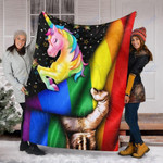 Custom Blanket Unicorn Blankets - Gifts for LGBT - Fleece Blanket
