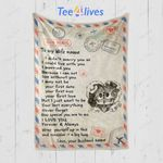 Custom Blanket Letter To My Wife Personalized Gifts Blanket - Gift for Wife - Fleece Blanket #80072