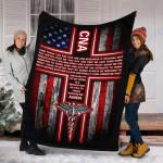 Custom Blanket CNA's Prayer Blanket - Perfect Gift For Wife - Fleece Blanket