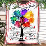 Custom Blanket To My Dad Blanket - Gift For Dad - Fleece Blanket #38483