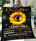 Custom Blanket Sunflower To My Daughter Blanket - Gift For Daughter - Fleece Blanket #86394