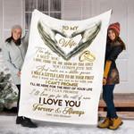 Custom Blanket To My Wife Blanket - Perfect Gift For Wife - Fleece Blanket