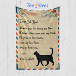 Custom Blanket Personalized Name Letter To My Cat Dad Blanket - Gift for Dad