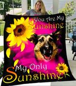 Custom Blanket German Shepherd My Sunshine Blanket - Fleece Blanket #90395