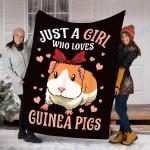 Custom Blanket Guinea Pigs Blanket - Perfect Gift For Kids Girls  - Fleece Blanket