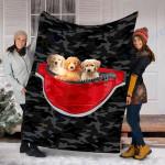 Custom Blanket Goldendoodle Dog Blanket - Fleece Blanket #65052