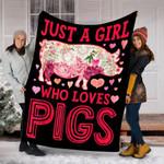 Custom Blanket Pigs Blanket - Perfect Gifts For Girls - Fleece Blanket