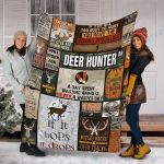 Custom Blanket Hunting Blanket - Perfect Gift For Dad - Fleece Blanket
