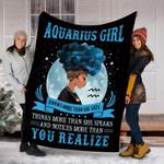 Custom Blanket Aquarius Girls Black Queen Blanket - Fleece Blanket