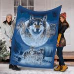 Custom Blanket Wolf Wolves Blanket - Fleece Blanket