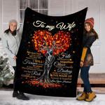Custom Blanket To My Wife Blanket - Gift For Wife - Fleece Blanket