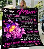 Custom Blanket To My Mom Blanket - Gift For Mom 3 - Fleece Blanket