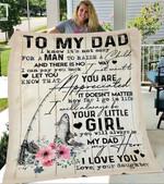 Custom Blanket Fishing To My Dad Blanket - Gift For Dad - Fleece Blanket #52369