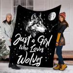 Custom Blanket Wolves Blanket - Gift For Women Girls - Fleece Blanket
